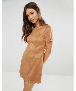 Glamorous | Цельнокройное Платье Из Искусственной Замши Рыжий