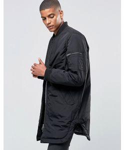 ADPT | Легкая Удлиненная Куртка-Пилот Черный