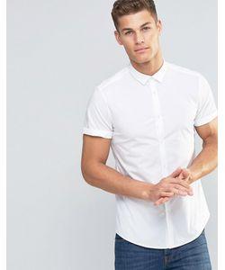 Asos | Белая Узкая Рубашка Стретч Белый