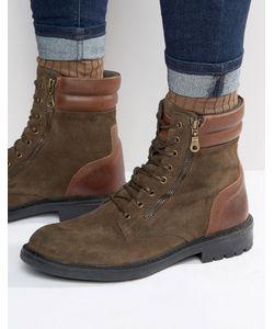 WALK London | Замшевые Ботинки На Шнуровке Stepney Зеленый