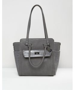 Marc b | Structured Winged Tote Bag Серый