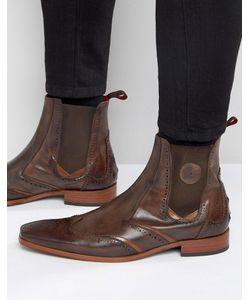 Jeffery west | Кожаные Ботинки Челси Scarface Коричневый
