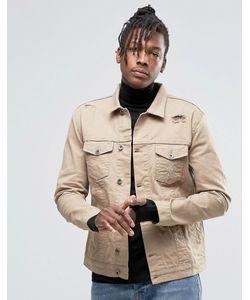 Kubban | Джинсовая Куртка В Стиле Вестерн Песочного Цвета Бежевый