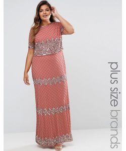 Lovedrobe Luxe | Двухслойное Платье Макси С Отделкой Розовый