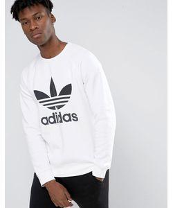 adidas Originals   Свитшот С Круглым Вырезом И Логотипом Ay7794 Белый