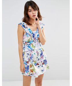 J.O.A | Панельное Платье Мини Лавандовый