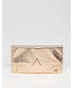 Asos | Клатч С Отделкой Металлик Розовое Золото