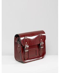 Leather Satchel Company | Маленькая Сумкасэтчел The Глянцевый Темно-Бордовый