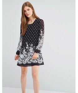 Yumi | Цельнокройное Платье С Принтом Черный