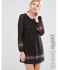 Yumi Petite | Цельнокройное Платье С Цветочным Принтом Черный