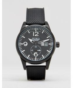 Techne   Часы С Черным Резиновым Ремешком Черный