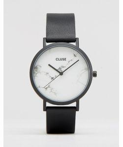Cluse | Часы С Черным Ремешком И Мраморным Циферблатом La Roche Cl40002