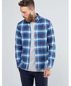 Penfield   Клетчатая Рубашка Из Хлопка С Начесом Riverview Синий