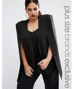 Lavish Alice Plus | Пиджак Без Воротника Черный