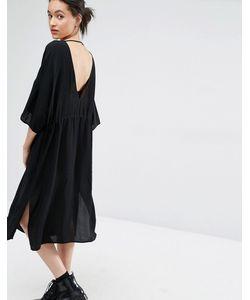 Just Female | Платье С Глубоким Вырезом Сзади Essie Черный