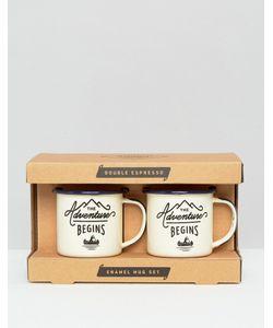 Gentlemen's Hardware | Double Espresso Enamel Mug Set Мульти