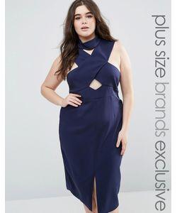 Lavish Alice Plus | Платье-Футляр С Перекрестной Отделкой Горловины И Халтером