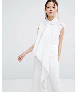 Zacro | Асимметричная Рубашка Без Рукавов Белый