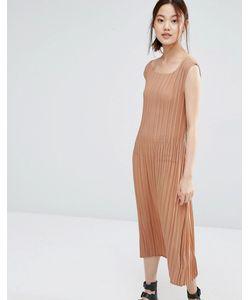 Zacro | Платье В Мелкую Складку Пыльная Роза