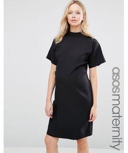 ASOS Maternity | Платье-Футляр С Высокой Горловиной И Короткими Рукавами Черный