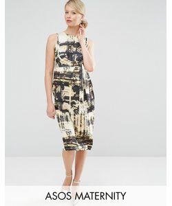 ASOS Maternity | Платье Миди Для Беременных С Абстрактным Принтом