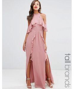 TFNC Tall | Платье Макси С Высокой Горловиной И Оборками Wedding