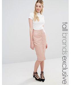 Fashion Union Tall | Юбка Миди На Пуговицах Blush