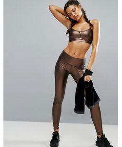 Haute Body | Леггинсы Из Искусственной Кожи Медного Цвета Hautebody Penny Lane