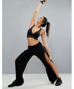 Haute Body | Черные Спортивные Брюки С Кнопками Черный