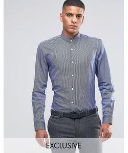 Number Eight Savile Row | Рубашка Скинни В Полоску Темно-Синий