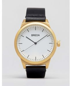 Breda | Часы С Золотистым Циферблатом И Черным Ремешком Rand Черный