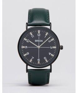 Breda | Часы С Зеленым Ремешком И Черным Циферблатом Belmont Зеленый