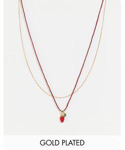 Les Nereides | Ожерелье С Подвескойклубничкой Мульти