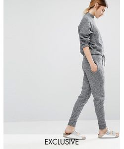 Stitch & Pieces   Knitted Joggers Серый Меланж
