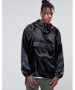 Asos | Черная Куртка Через Голову С Капюшоном Черный