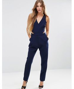 Adelyn Rae | Cut Out Side Jumpsuit In Navy Темно-Синий