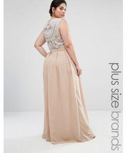 Lovedrobe Luxe | Платье Макси С Декоративной Отделкой Сзади Mink