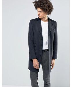Feraud | Пальто Из 80 Итальянской Шерсти С Бархатным Воротником Черный