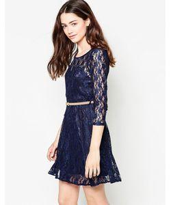 Mela Loves London | Кружевное Платье С Длинными Рукавами И Ремнем