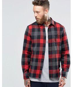 Penfield   Клетчатая Рубашка На Пуговицах С Начесом Valetview Красный