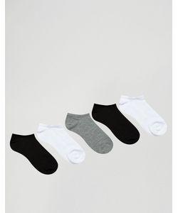 Asos | Набор Из 5 Пар Спортивных Носков Скидка 47 Monochrome