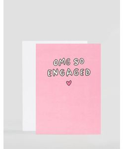 Veronica Dearly | Открытка Omg So Engaged Мульти