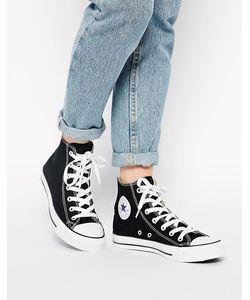 Converse | Высокие Черные Кроссовки All Star Черный