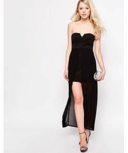 Jovonna | Платье С Длинным Верхним Слоем Nico Черный