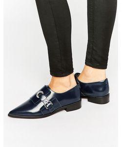 Asos | Кожаные Туфли На Плоской Подошве Madame Темно-Синий