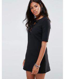 Glamorous | Цельнокройное Кружевное Платье Черный