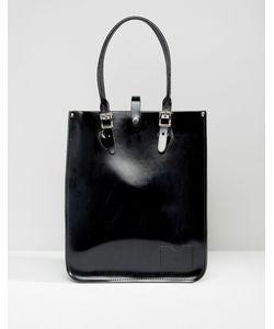 Leather Satchel Company | Сумка-Тоут The Patent Pitch Black