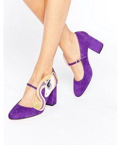 MINNA PARIKKA | Фиолетовые Туфли На Каблуке С Отделкой Единорог Sparks