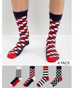 Happy Socks | Подарочный Набор Из 4 Пар Носков