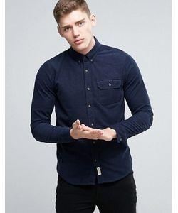 Hollister | Темно-Синяя Вельветовая Рубашка Классического Кроя